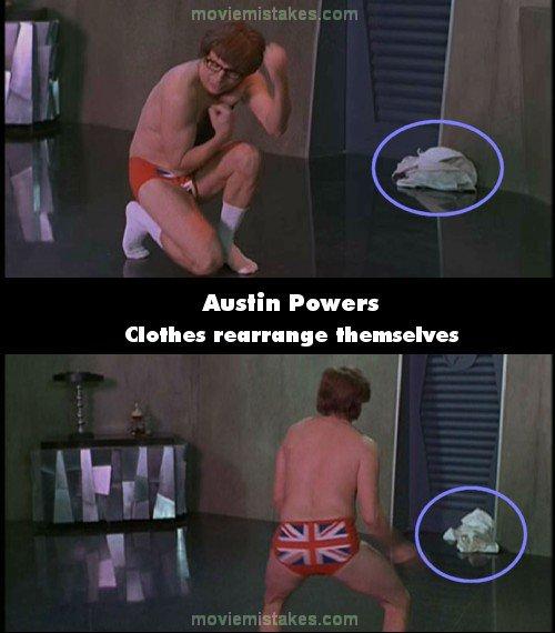 austin powers movie mistakes